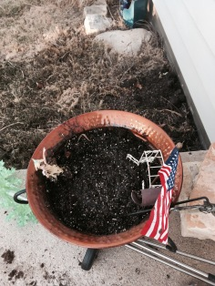 Patriotic Fairy Garden. A few days later, the wind blew almost 50mph and destroyed all of it.