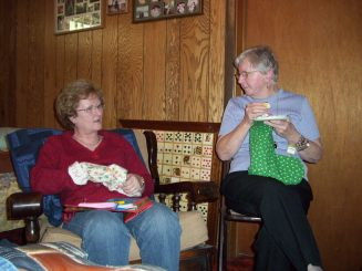 Aunt Mel and Gma Mona - 2010